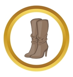 Womens boots high heel icon vector