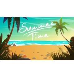 Summertime cartoon vector image