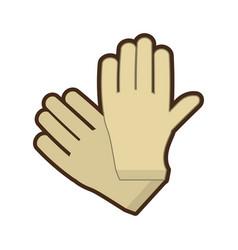 gloves surgery latex medical vector image