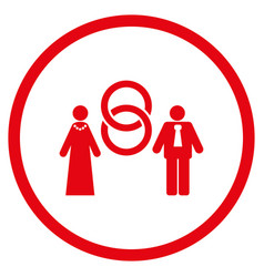 Marriage persons rounded icon vector