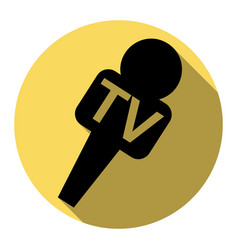 Tv microphone sign   flat vector