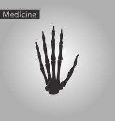 Black and white style icon of wrist bone vector