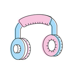 headphones to listen and play music vector image