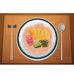 Asian meal vector