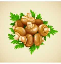 Organic food mushrooms vector