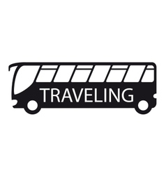 Bus icon travel symbol vector