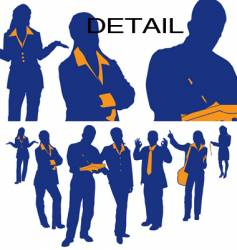 business team vector image