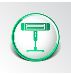 Electric heater light icon energy vector