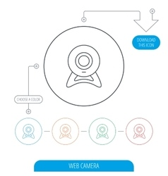 Web cam icon video camera sign vector