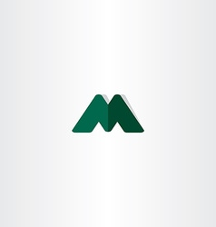 Green logotype element letter m symbol vector