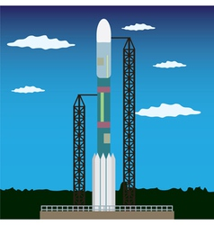 Rocket launch platform vector