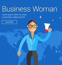 Profession people business woman flat design vector