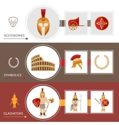 Gladiator banner set vector