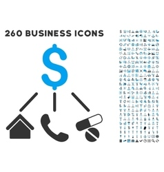 Life expenses icon with flat set vector