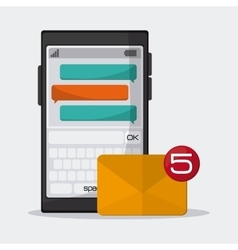 Sms and email design vector