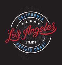 Los angeles design print vector