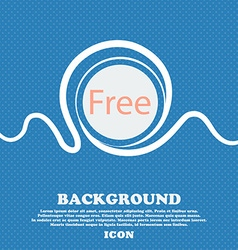 Free sign icon special offer symbol blue and white vector