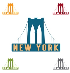 Brooklyn bridge in new york city design template vector