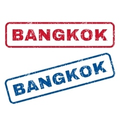 Bangkok rubber stamps vector