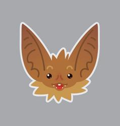 bat emotional head surprised emoji smiley icon vector image