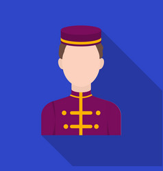 bellboy icon in flat style isolated on white vector image
