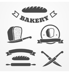 Bread and bakery vector image vector image
