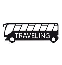 Bus icon travel symbol vector