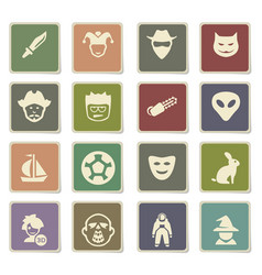 Cinema genres icon set vector
