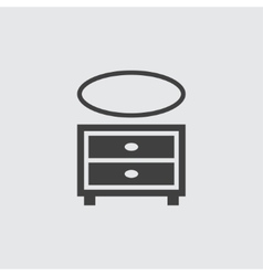 Cupboard icon vector