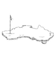 france as a golf hole vector image