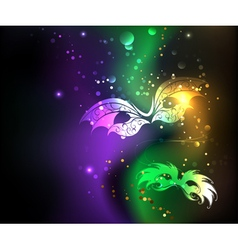 Glowing Background with Masks vector image vector image