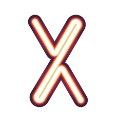 Glowing neon letter x vector