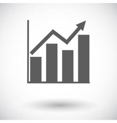 Graph flat single icon vector image