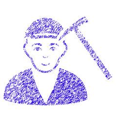 Hammer victim icon grunge watermark vector