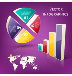 Infographics 3d set vector image vector image