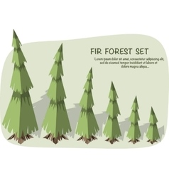 Isometric fir trees vector
