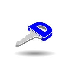 Key symbol logo vector