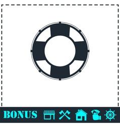 Lifebuoys icon flat vector image vector image