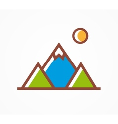 Mountains icon symbol vector