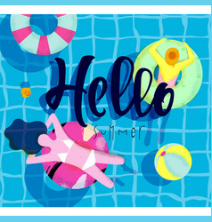 Poster hello summer vector
