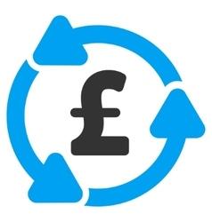 Pound circulation flat icon symbol vector