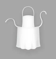 realistic white cooking apron vector image vector image