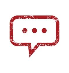 Red grunge talk logo vector