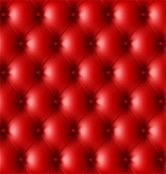 Red leather upholstery pattern vector image vector image