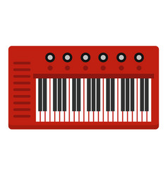 Red synthesizer icon isolated vector