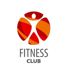 Round logo for fitness center vector image vector image