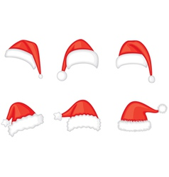 Santa cap set vector
