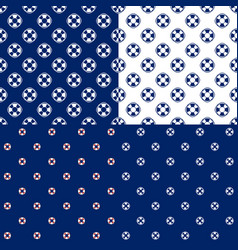 seamless maritime pattern with lifebuoy vector image vector image