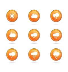 weather icon button color vector image