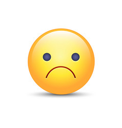 worried cartoon emoji frustrated vector image
